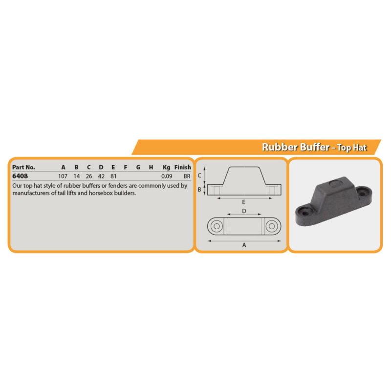 Rubber Buffer – Top Hat