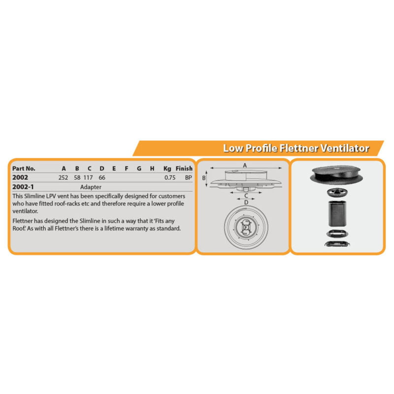Low Profile Flettner Ventilator Drg