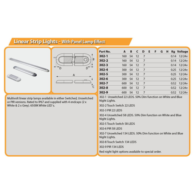 Linear Strip Light Drg