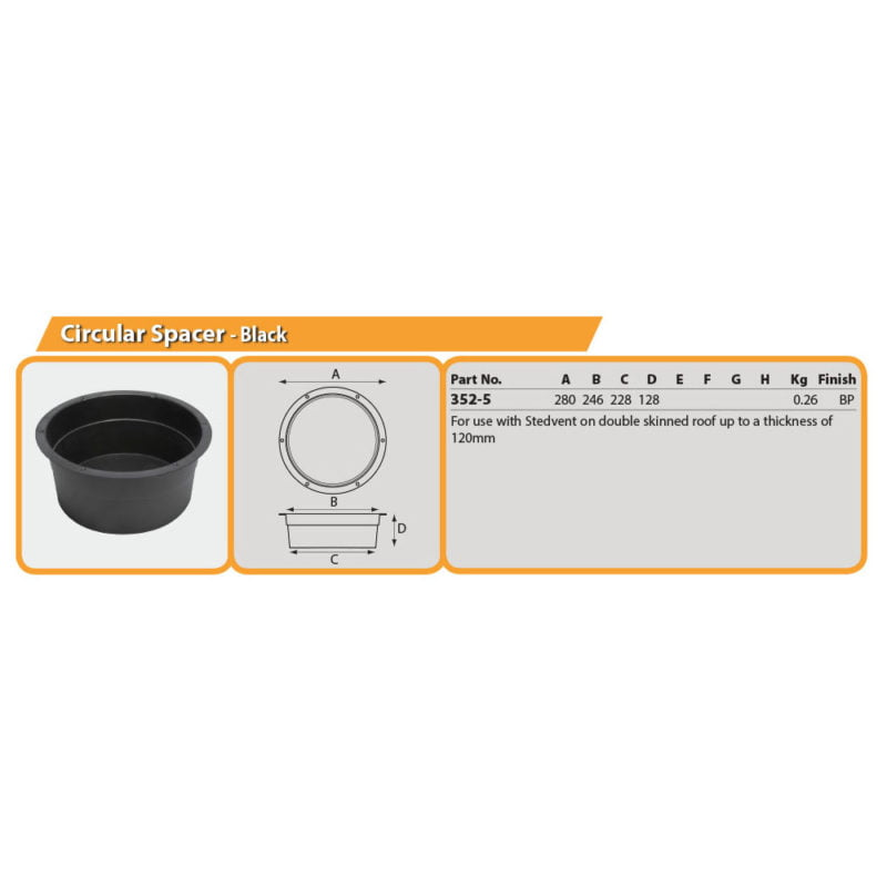 Circular Spacer - Black Drg