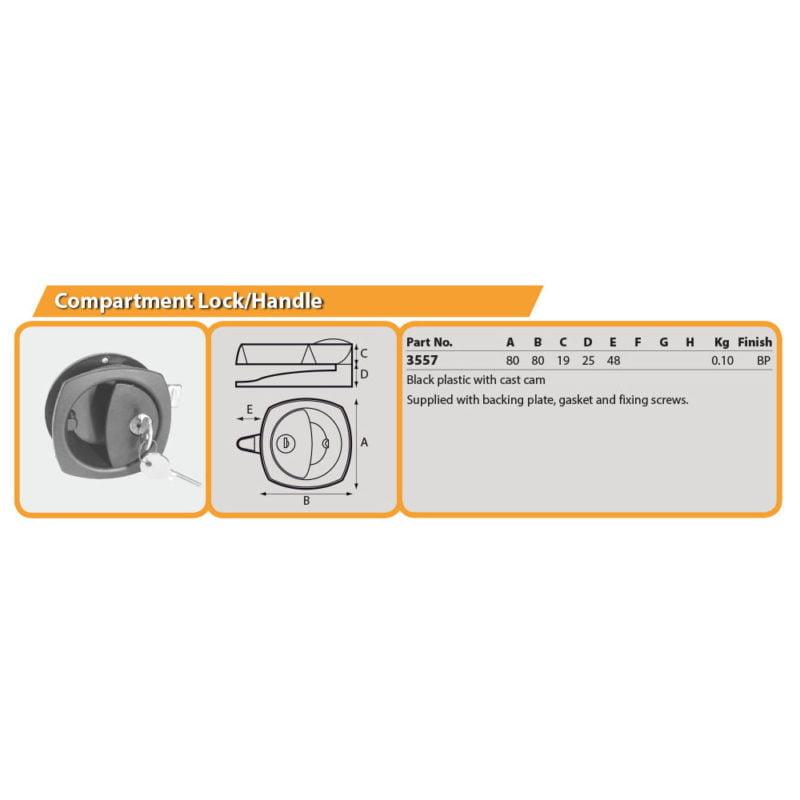 Compartment Lock/Handle Drg