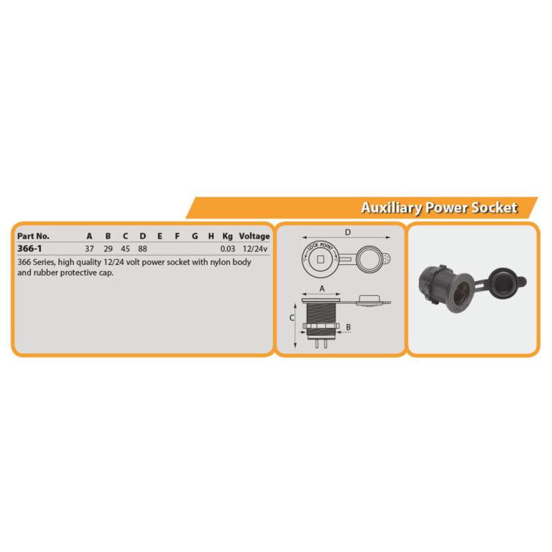 Auxiliary Power Socket Drg