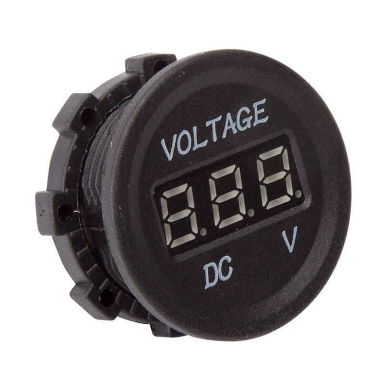 Voltmeter - Illuminated blue LED