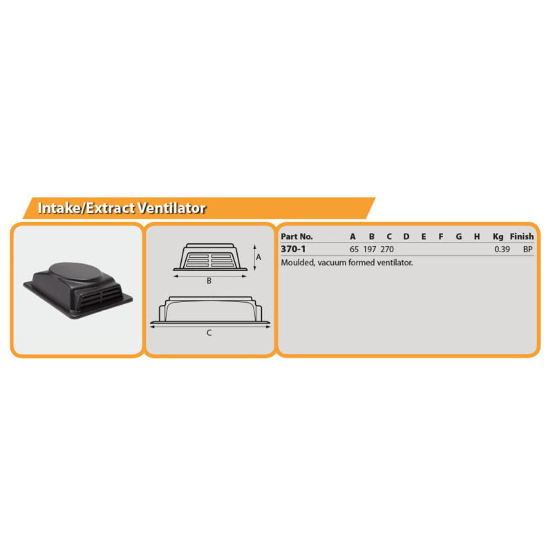 Intake/Extract Ventilator Drg