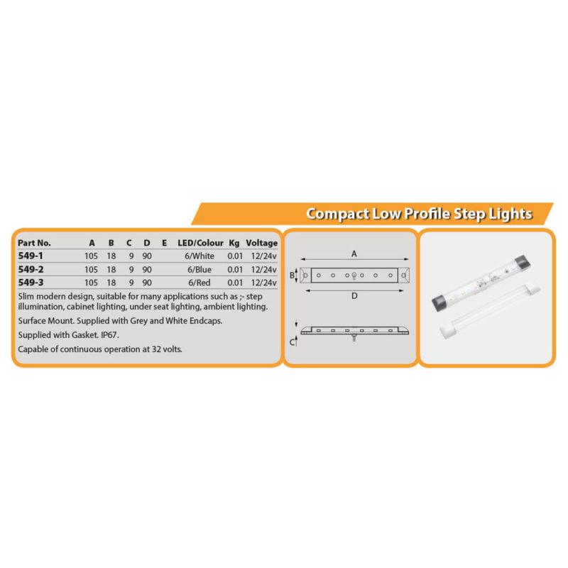 Compact Low Profile Step Lights Drg