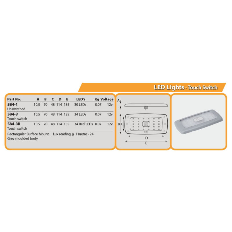 LED Lights - Un-Switched Drg