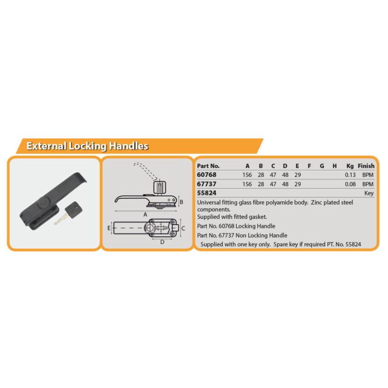External Locking Handles Drg