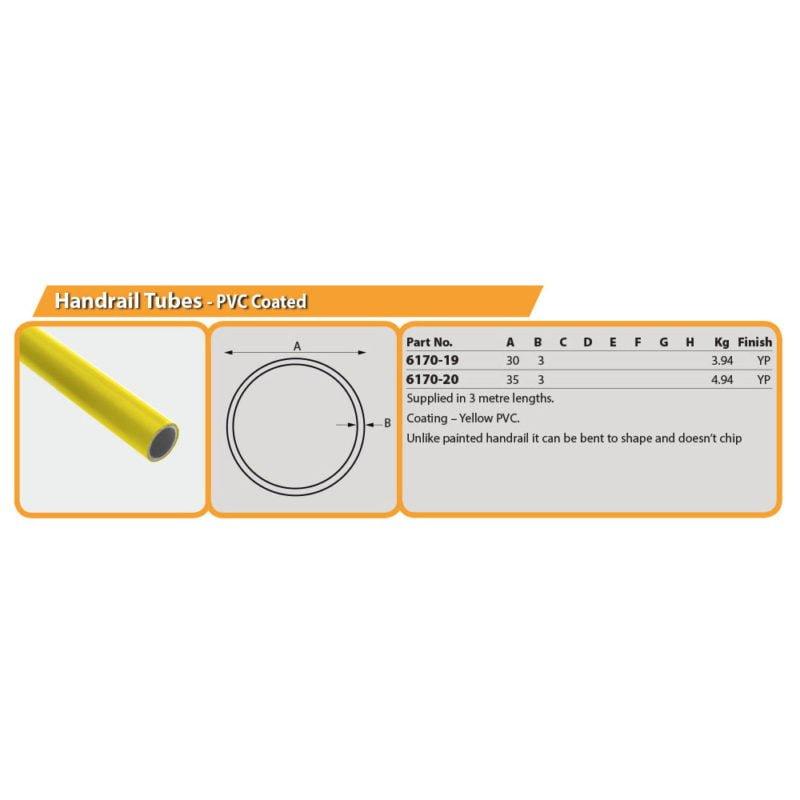 Handrail Tubes - PVC Coated Drg