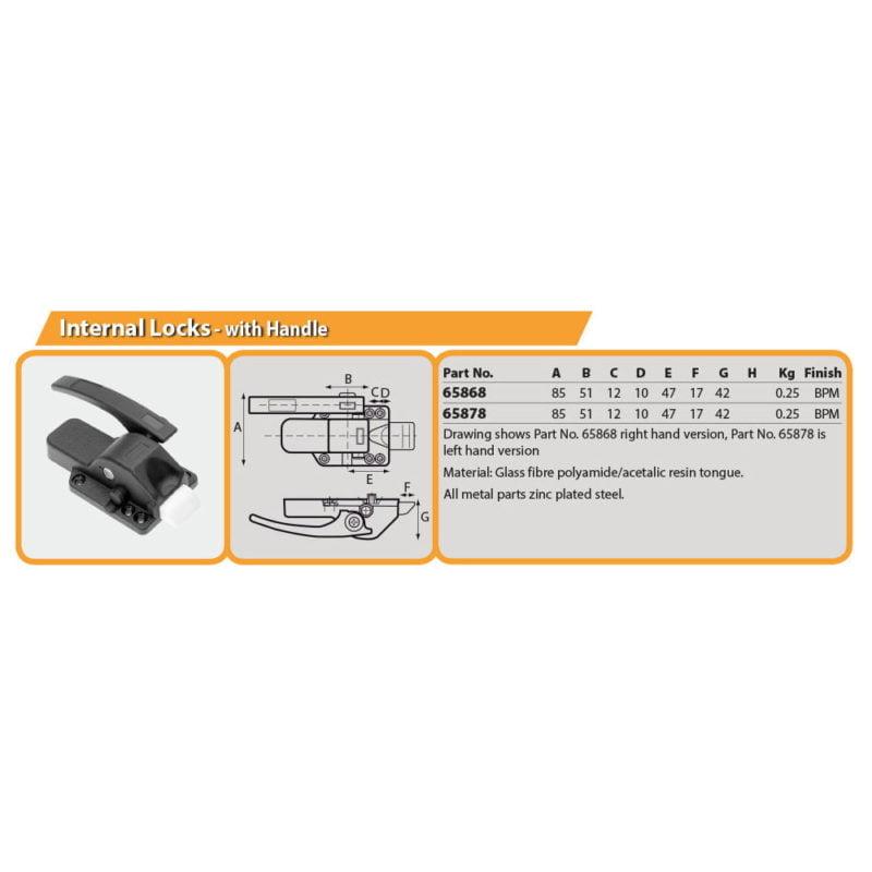 Internal Locks - with Handle Drg