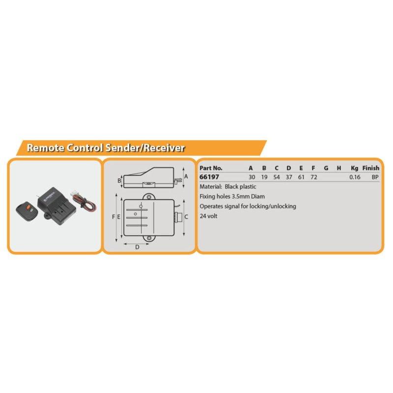 Remote Control Sender/Receiver Drg