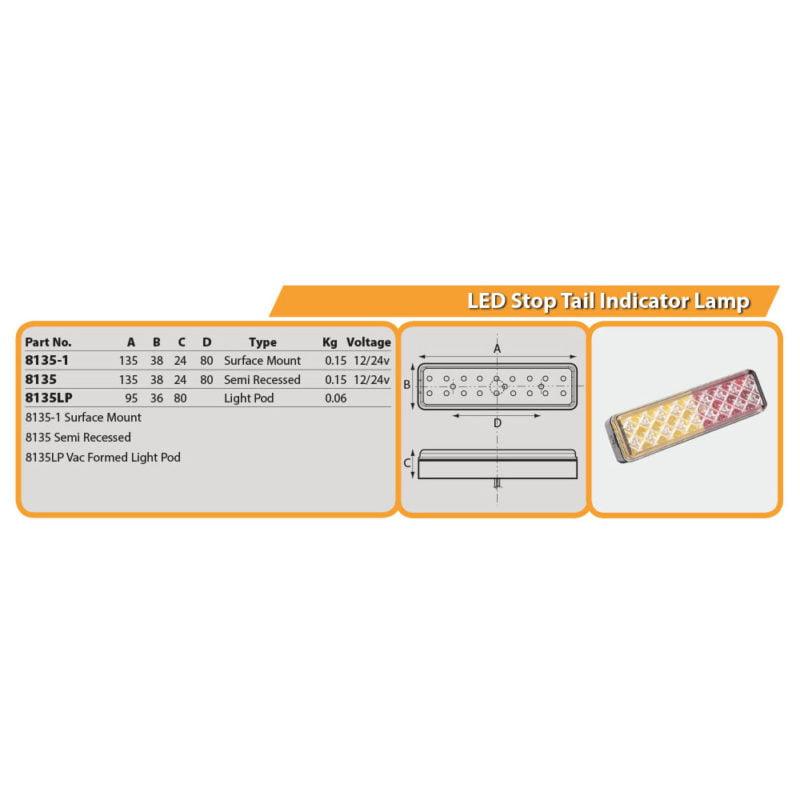 LED Stop Tail Indicator Lamp Drg