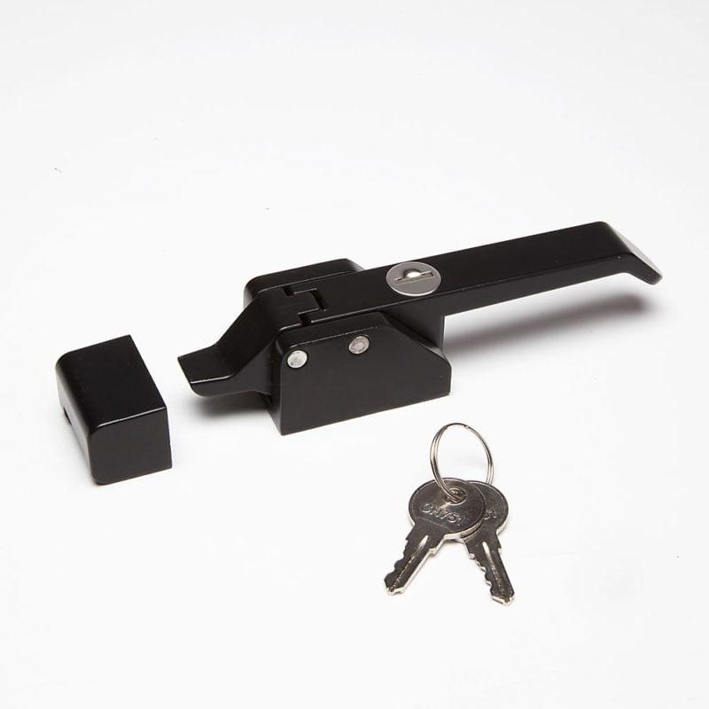 Locking Black Cast Lock & Striker