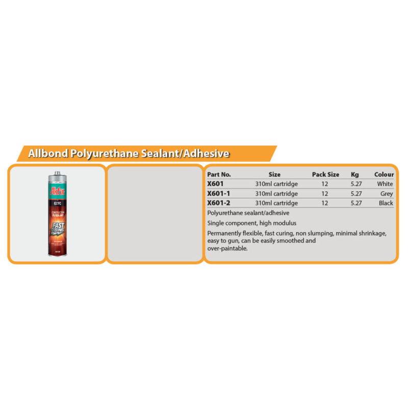 Allbond Polyurethane Sealant/Adhesive Drg